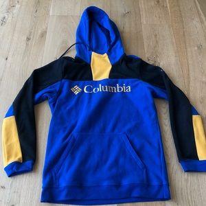 COLUMBIA Lodge  fleece hoodie blue black yellow M